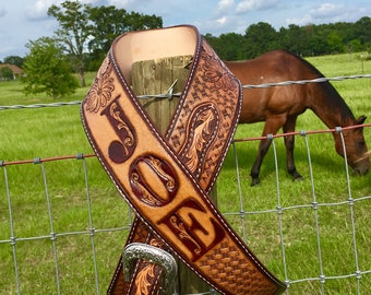 Handcrafted Deluxe Guitar Strap with Buckle