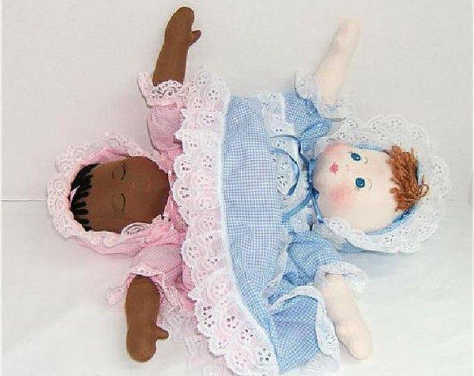 Judi Ward Original Design - TOPSY TURVY ~ Cloth Baby Doll Making E-Pattern  - Download Sewing Pattern