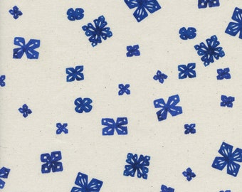 Bluebird Paper Cuts - Natural Unbleached Cotton  Print Quilting Cotton for Cotton and Steel