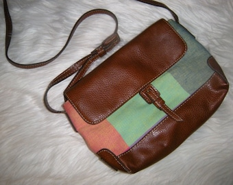 Liz Claiborne Multi- Color Color block Cross Body - Satchel - Saddle - Shoulder Bag ~ Indie ~ Hipster