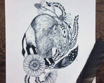 Mystic Buffalo Print