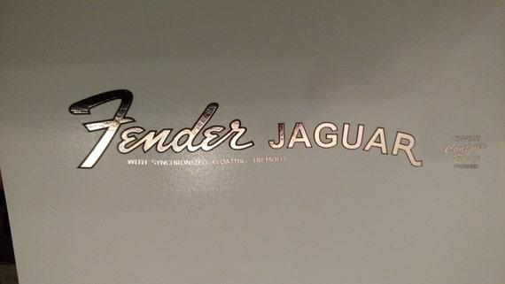 Fender Jaguar in Silver Metallic Waterslide Shown in Foil