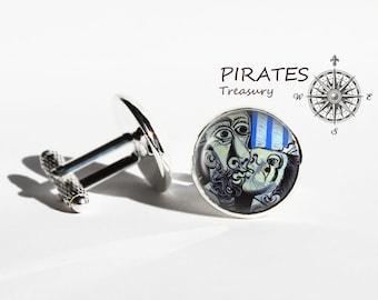 Pablo Picasso Kiss cufflinks, Kiss cuff links, silver plated cufflink, men and women accessories