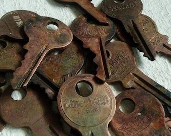 15 Hand Patinated Vintage Keys