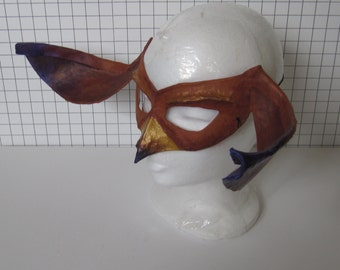 Brown and Purple Goblin Mask
