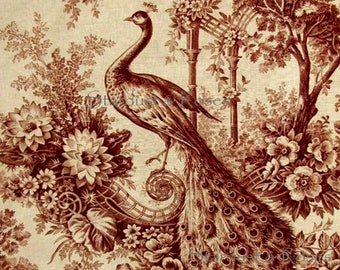 DIGITAL DOWNLOAD Printable ArT Antique French Toile – Instant Background Print - Scrapbooking Junk Journal Paper Crafts Altered Art DD197