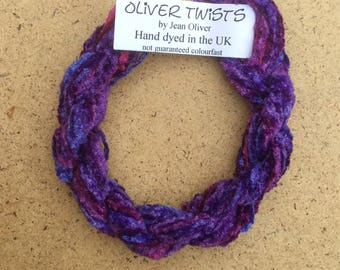 Silk Chenille No.05 Violet, Hand Dyed Embroidery Thread, No.05 Violet