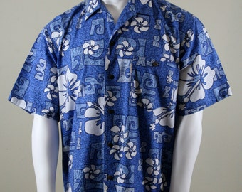 1980s Aloha Shirt, Rokoko Hawaiian Beach