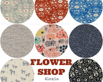 fat quarter bundle from the Flower Shop fabric collection by Alexia Marcelle Abegg for cotton and steel  - 8 pieces