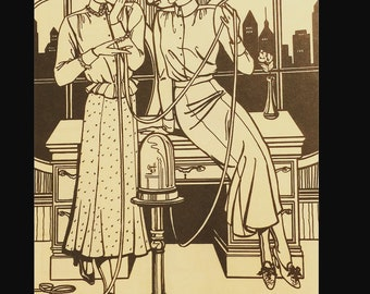 Folkwear 1920s 1930s Thin Man Style Wall Street Blouse and Skirt Sewing Pattern 232
