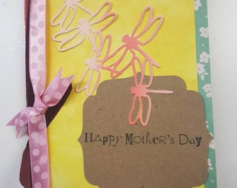 Yellow Flutterby Mother's Day Card
