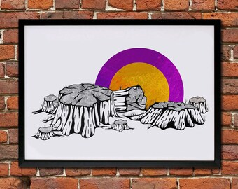 Stumps of time - Giclee Print (Unframed)