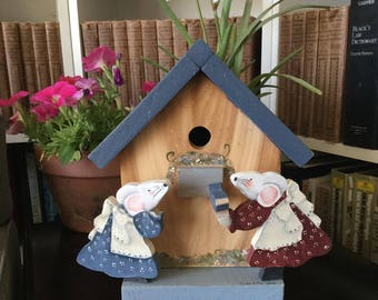 Sampler Mice & Cedar Bird House