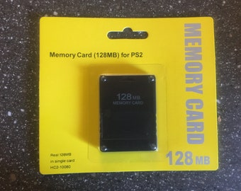 New Playstation 2 PS2 128MB Memory Card In Packaging