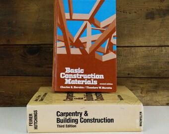 Vintage Construction Books / Technical Vocation Education Textbooks