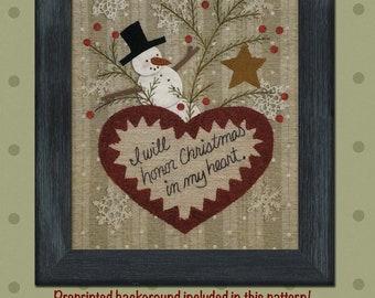 Christmas Heart Applique Pattern
