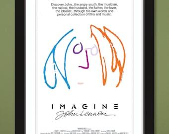 Imagine – John Lennon 1988 Movie Poster (12x18 Heavyweight Art Print)