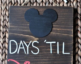 Custom Countdown Wood Sign. Disney Countdown. Vacation Countdown. Birthday Countdown. Wedding Countdown. Baby Countdown. Chalkboard Sign.