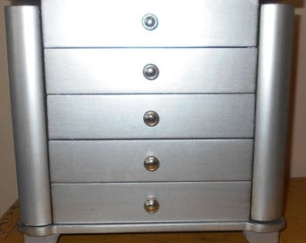 Silver Jewelry Chest - Jewelry Box