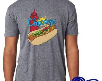 Chicago Hot Dog Shirt, Funny Chicago Shirt, Home Shirt, Midwest Shirt, Funny Tshirts for Women, Funny Tshirts for Men, Chicago Tshirt