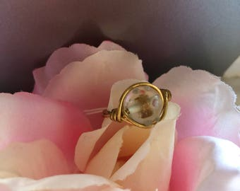 Gold Spotted Ring