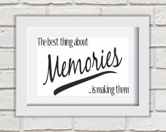 The Best Things About Memories Framed Quote Print Mounted Word Art Wall Art Decor Typography Inspirational Quote Home Gift