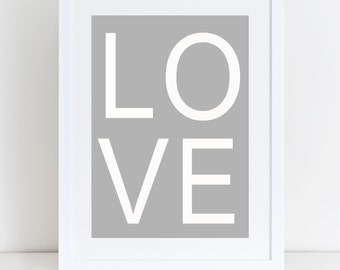 Love Print- Home Sign, Home Print, Love Print, Home Decor, Valentines Day Gift