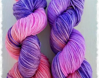 ROMANTIC BOUTIQUE Colorway | Hand Dyed Yarn | Purple | Pink | Peach