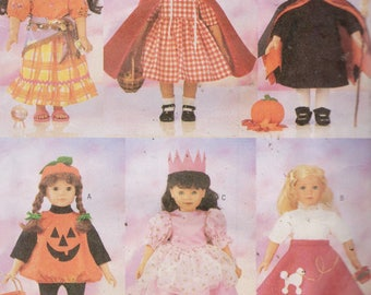 "18""  Doll Halloween Costume Sewing Pattern  Butterick 5661, Uncut"