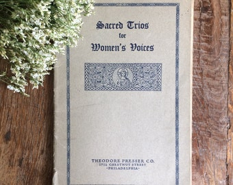 Sacred Trios for Women's Voices, Hymnal, Sheet music, 1933