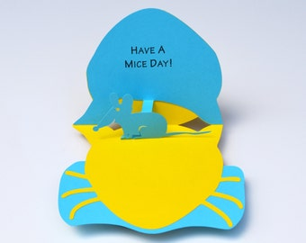 Pop-Up Greeting Card - Have a Mice Day