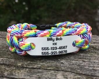 Kids Id Bracelet Etsy