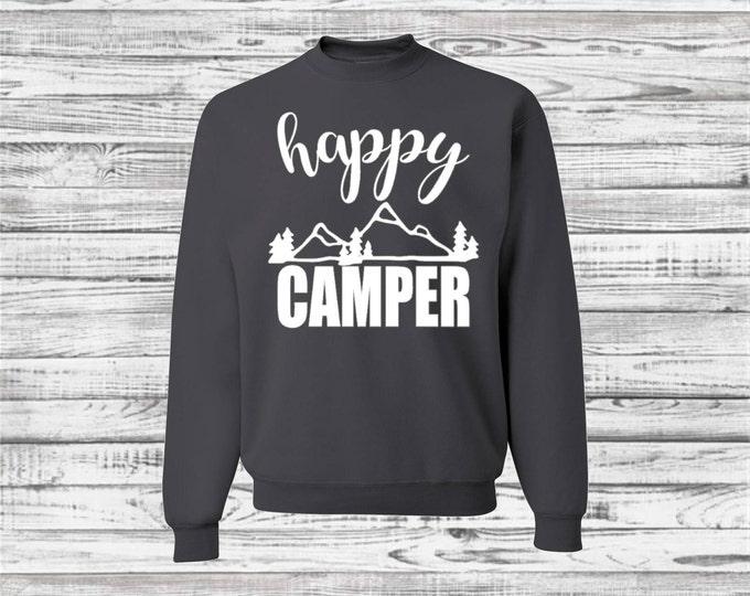 Camping Shirts, Custom Camp Sweatshirt, Outdoor, Camp Shirts, Camper, Bachelorette Road Trip, Camping Trip, Bridesmaid Sweatshirt