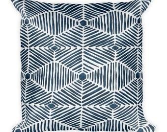 Blue Hawaiian Square Pillow,  Throw Pillow, Couch Pillow, Decorative Pillow, Modern Home Decor, Custom Pillow, Custom Home Decor, Euro Sham