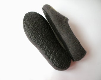 Rubber soles for my felted slippers