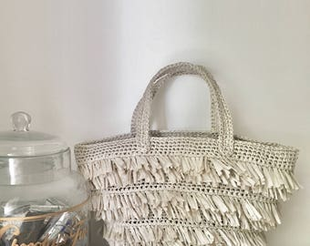 Sac piquenique. Sac plage. Sac frangé. Sac de jour. Picnic bag. Tassel bag. Beach bag. Daily bag.