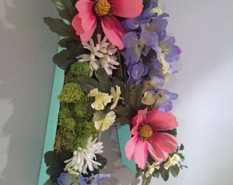 Floral Moss Letters - Pink, Green, Purple, White