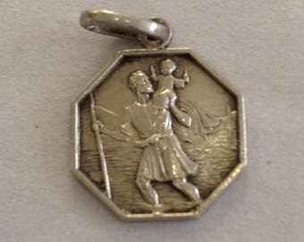 Hallmarked Silver St Christoper Pendant