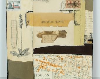 Original paper collage, vintage paper collage, paper collage