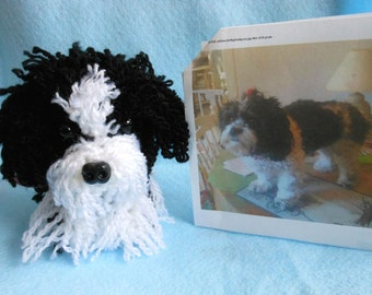 Custom Crochet Dog Made to Look Like Owner's Dog, Canine, Stuffed Animal, Stuffed Dog, Look Alike, Pet Memorial, Pet Remembrance, Custom Dog