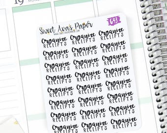 Shop Owner Stickers - Word Art Stickers - Lettering Stickers - Organize Receipts Stickers - Reciept Stickers - Fits Most Planners - 643