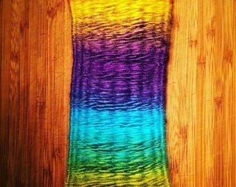 Fiber Art Rainbow Weave Tapestry Wall Hanging