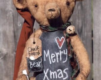 Primitive PATTERN Chalkboard Belly Teddy Bear
