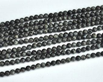 8mm Black Labradorite Beads, Natural Gemstone Beads, Round Loose Stone Beads 6mm 10mm 12mm 15'' strand