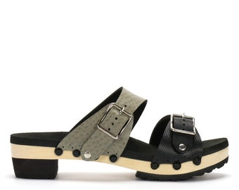 Low Heel Mule Platform Sandal | Comfort Sandal with Arch Support | Vegan | Made in USA