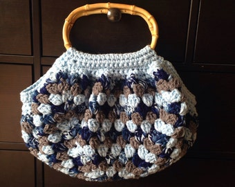 Crochet Granny bottom bag (ready to ship) Granny bottom purse