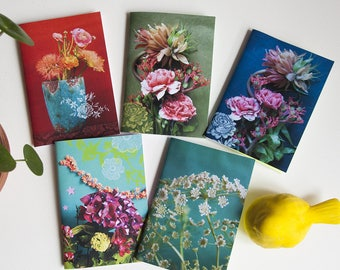 Floral and spring journal with blanket satin paper series two