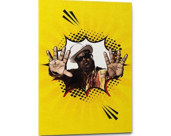 Notorious B.I.G. Canvas, Notorious Big Wall Art, Hip Hop Art, Notorious Poster, Music Poster Gift, Biggie Canvas