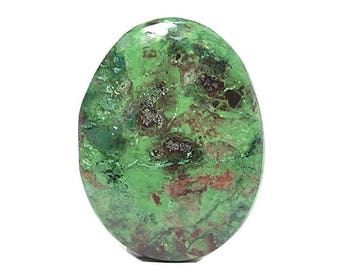 Chrome Green Jasper Semiprecious Stone Gem Oval Cabochon,  Polished Jasper gemstone, DIY Jewelry