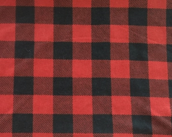 Red/Black Plaid Weighted Blanket. Pick your Size, Weight, and Color! 2, 3, 4, 5, 6, 7, 8, 9, 10, 11, 12, 13, 14, or 15 pounds..Ships FREE!!
